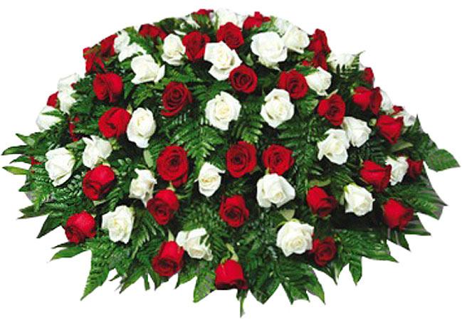Funeral sprays crosses and plants rachels flowers casket cover 100 mightylinksfo